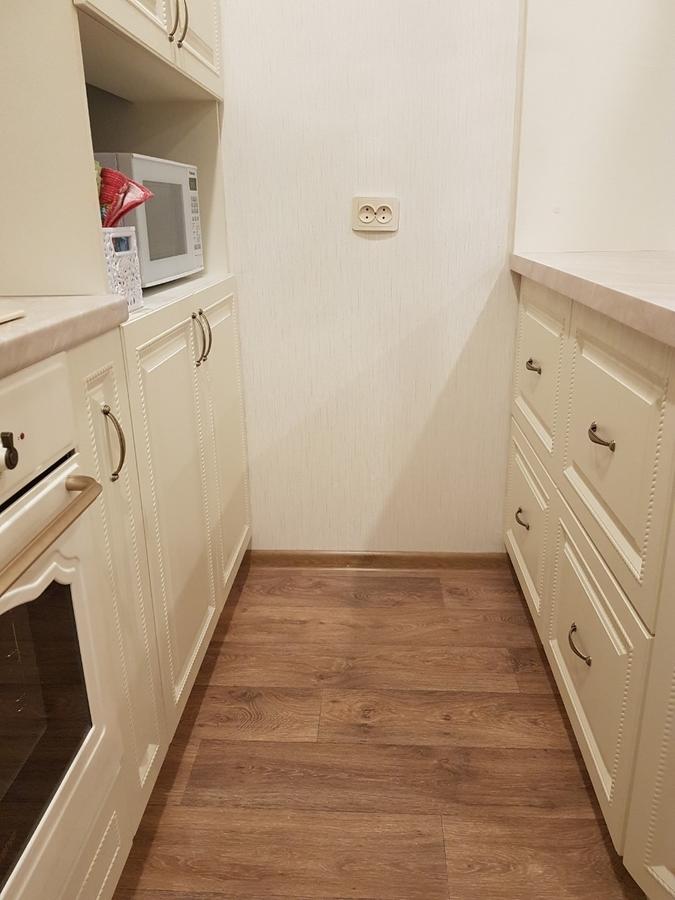 Белый кухонный гарнитур-Кухня МДФ в ПВХ «Модель 70»-фото2