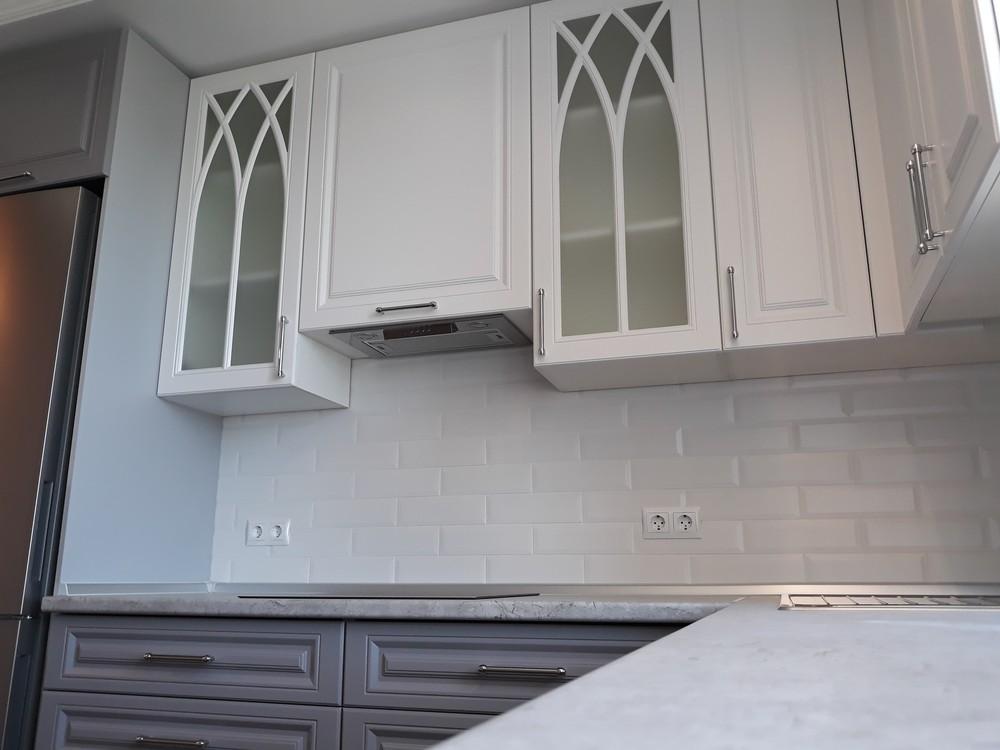 Белый кухонный гарнитур-Кухня МДФ в ПВХ «Модель 324»-фото6