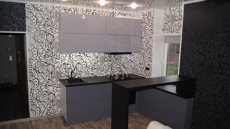 Глянцевые кухни-Кухня МДФ в эмали «Модель 285»-фото1