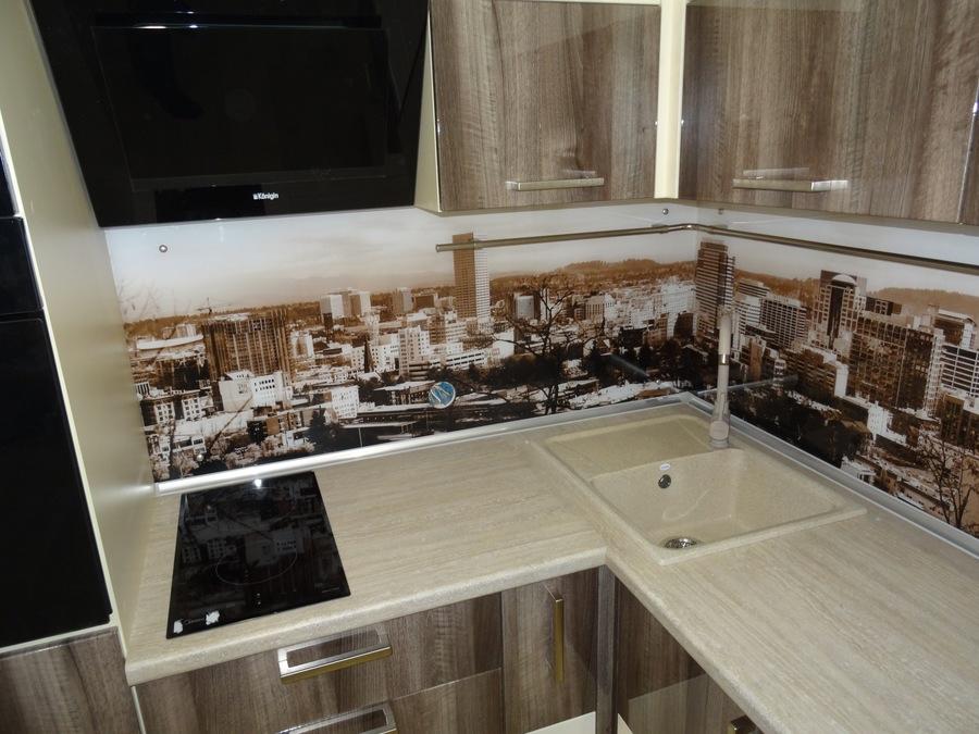Белый кухонный гарнитур-Кухня МДФ в эмали «Модель 485»-фото5