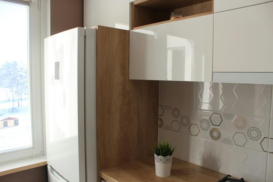 Белый кухонный гарнитур-Кухня из пластика «Модель 87»-фото4