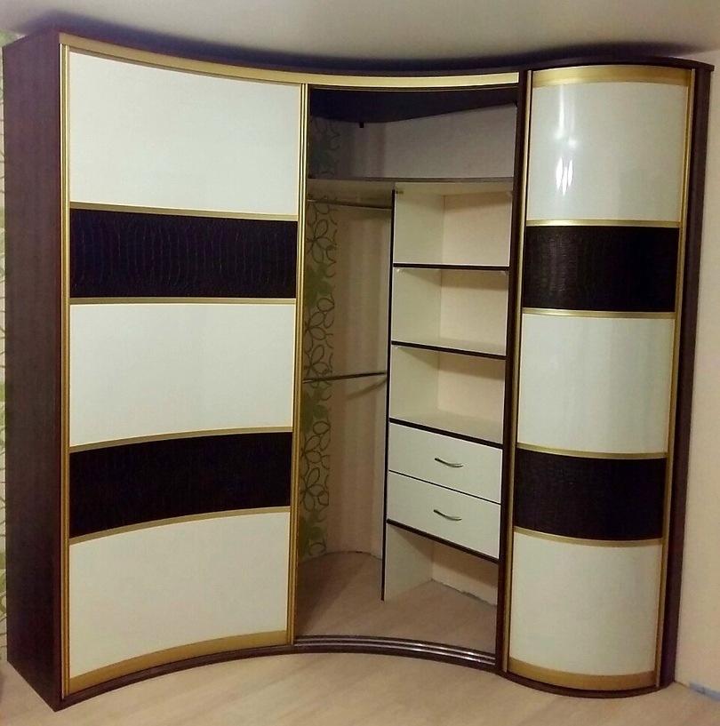 Белые шкафы-купе-Радиусный шкаф-купе «Модель 236»-фото2