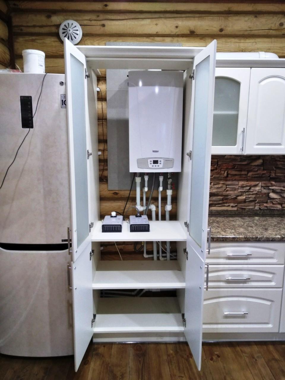 Белый кухонный гарнитур-Кухня МДФ в эмали «Модель 546»-фото5