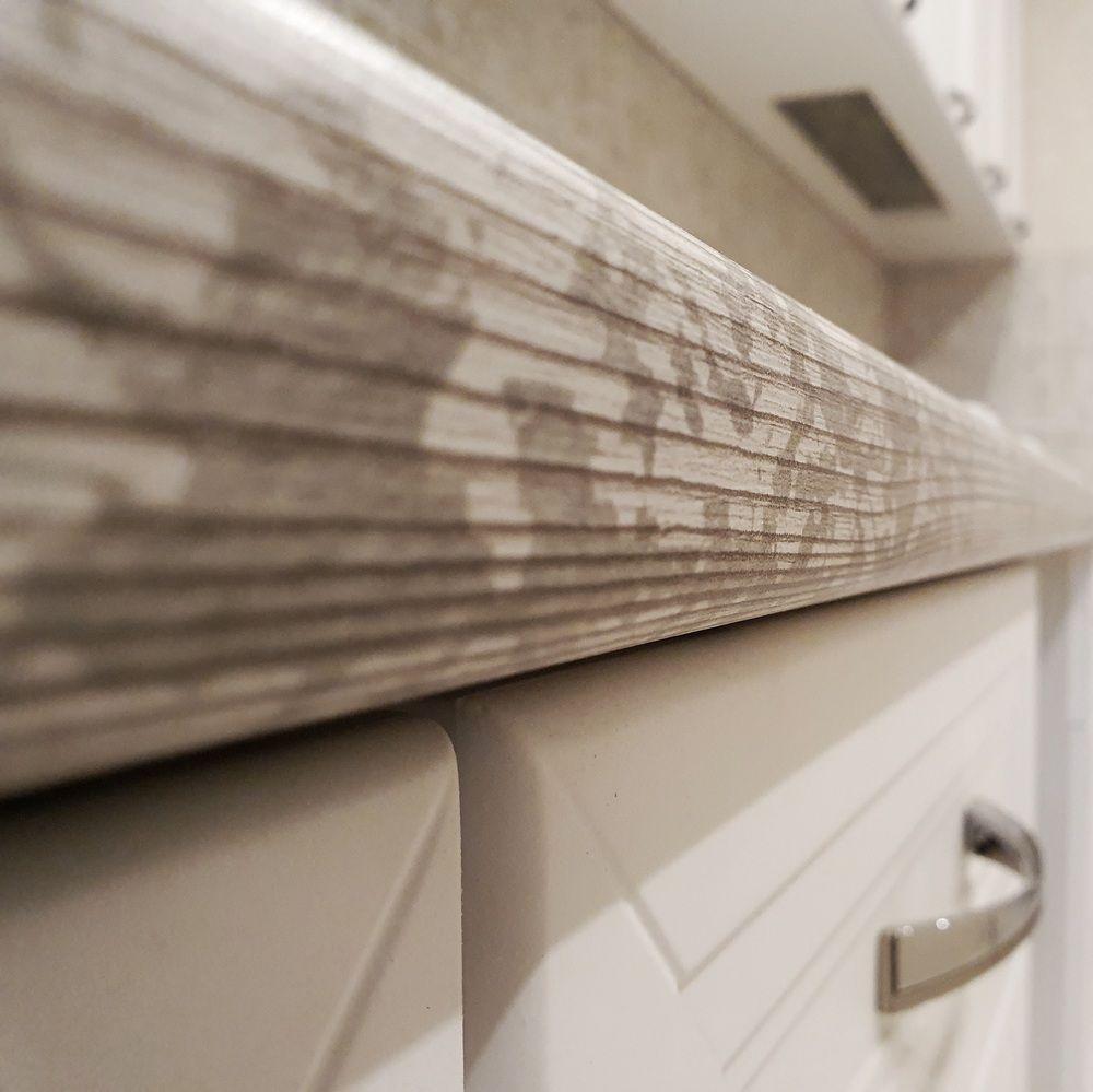 Белый кухонный гарнитур-Кухня МДФ в эмали «Модель 538»-фото9
