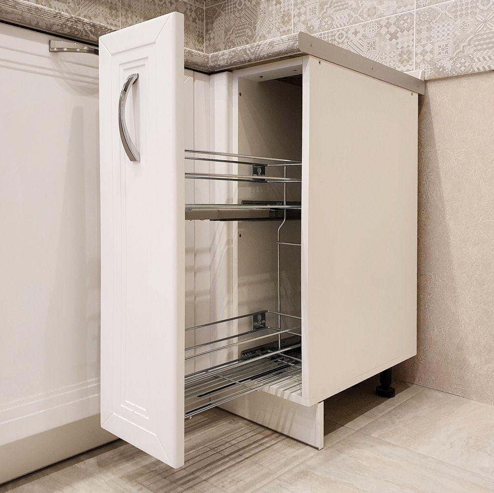 Белый кухонный гарнитур-Кухня МДФ в эмали «Модель 538»-фото6