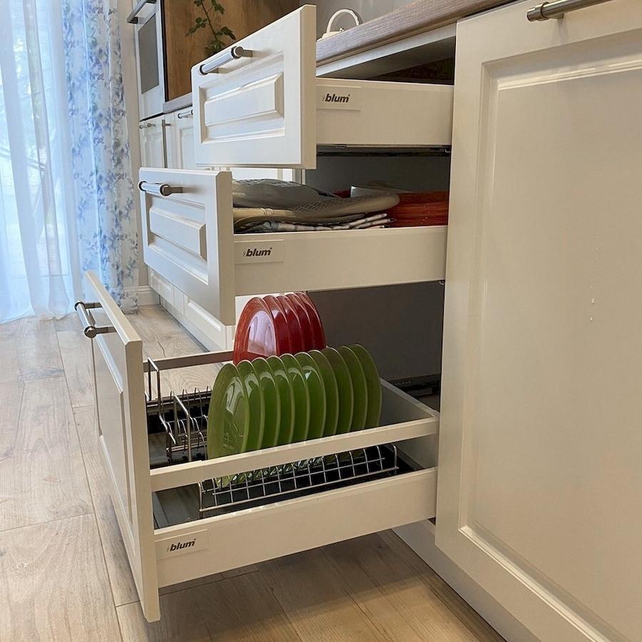 Белый кухонный гарнитур-Кухня МДФ в ПВХ «Модель 588»-фото4
