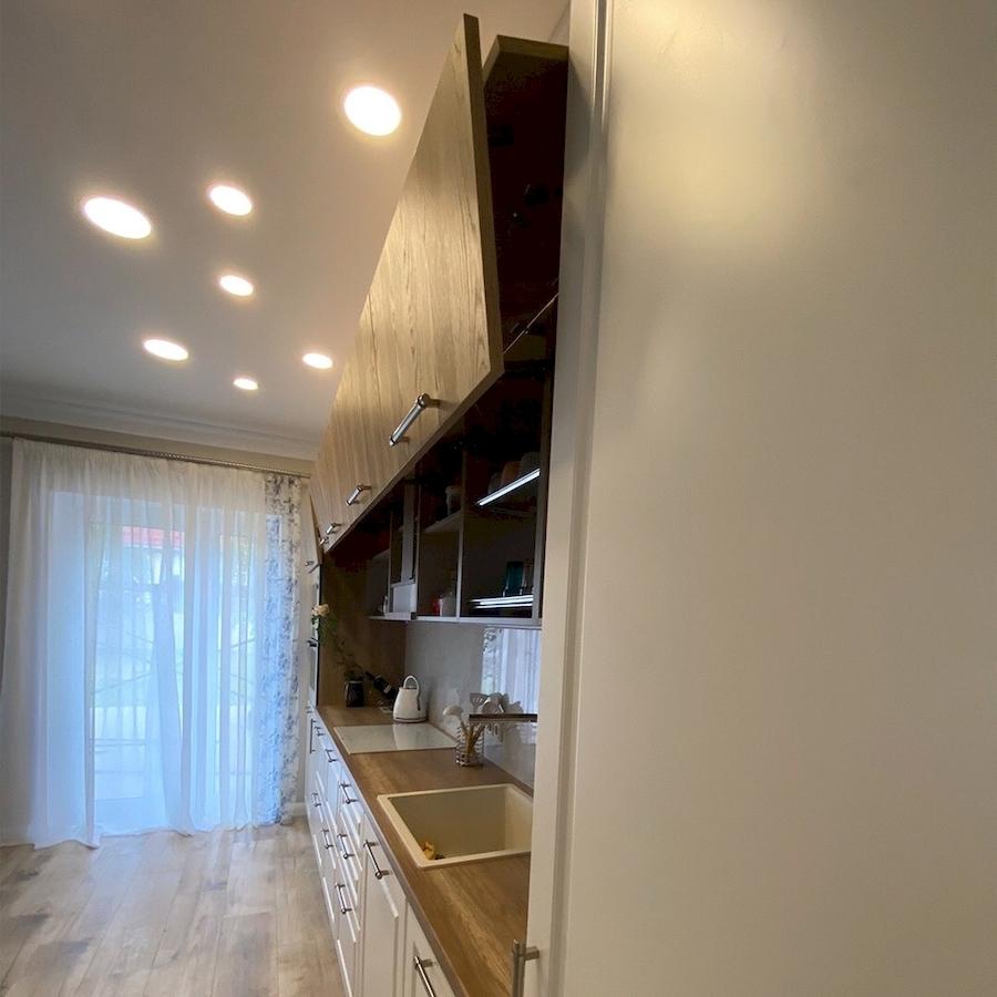 Белый кухонный гарнитур-Кухня МДФ в ПВХ «Модель 588»-фото3