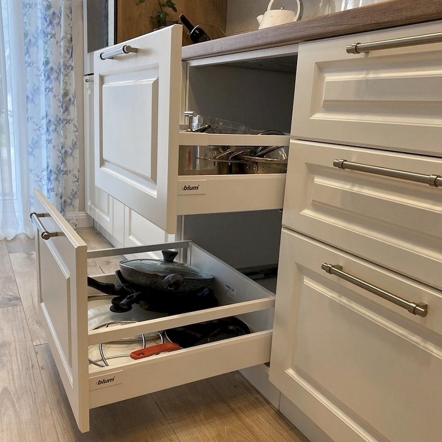 Белый кухонный гарнитур-Кухня МДФ в ПВХ «Модель 588»-фото6