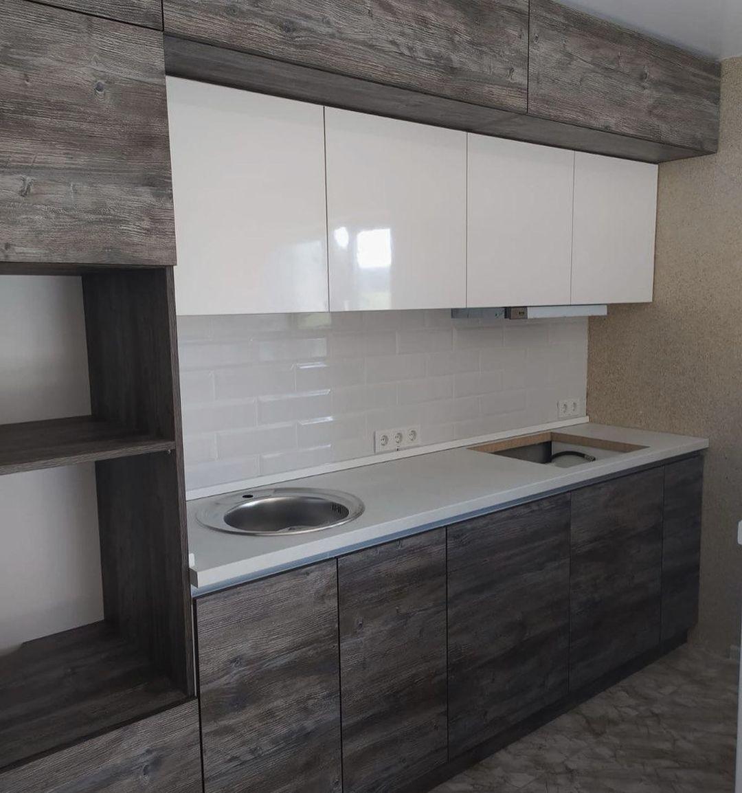 Встроенная кухня-Кухня из ЛДСП «Модель 617»-фото3