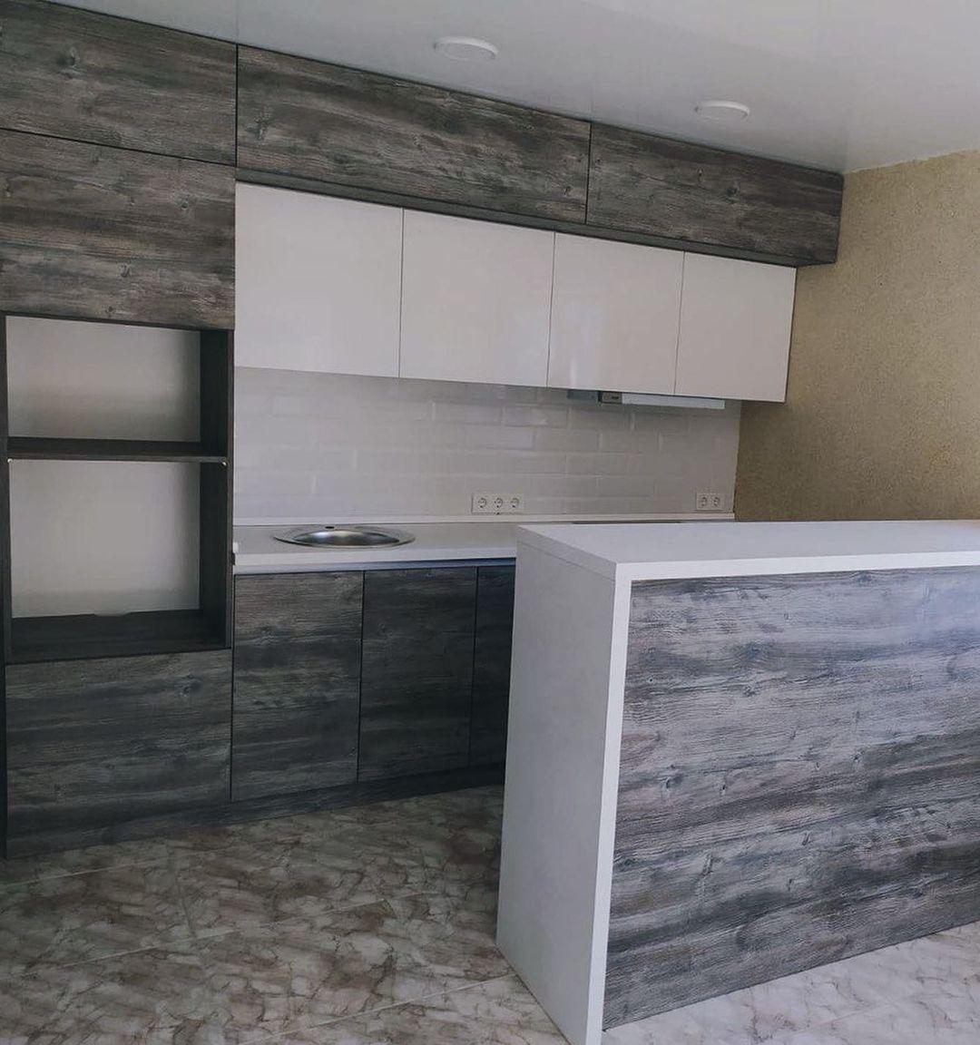 Встроенная кухня-Кухня из ЛДСП «Модель 617»-фото1