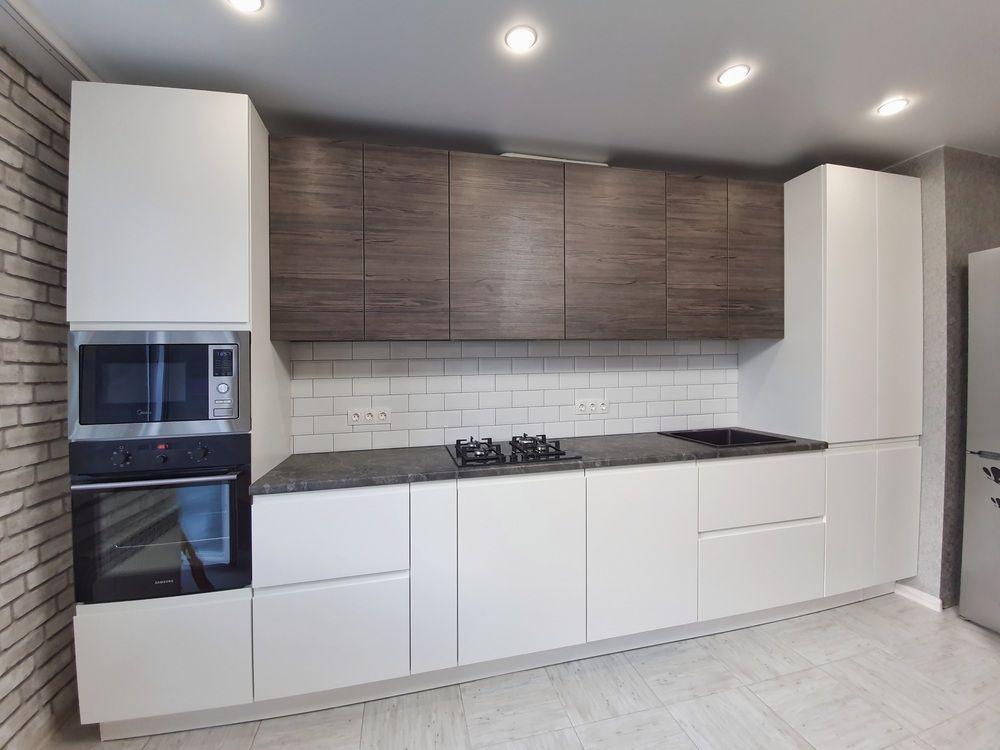 Белый кухонный гарнитур-Кухня МДФ в эмали «Модель 541»-фото2