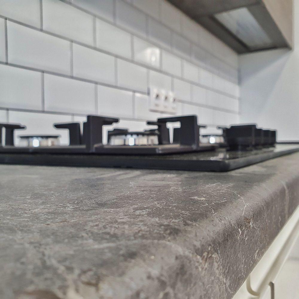 Белый кухонный гарнитур-Кухня МДФ в эмали «Модель 541»-фото10