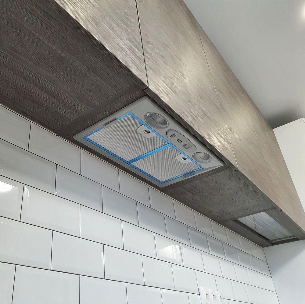 Белый кухонный гарнитур-Кухня МДФ в эмали «Модель 541»-фото9