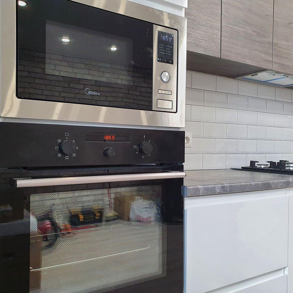 Белый кухонный гарнитур-Кухня МДФ в эмали «Модель 541»-фото7