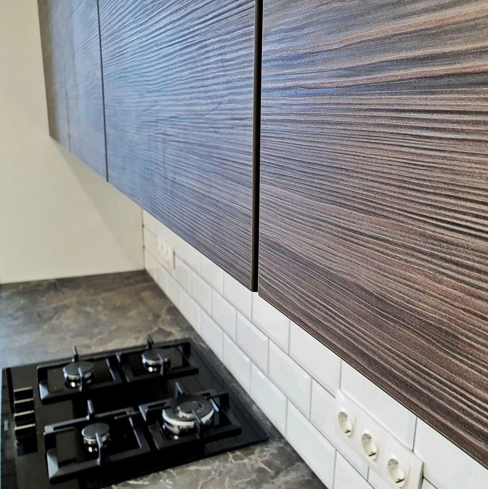 Белый кухонный гарнитур-Кухня МДФ в эмали «Модель 541»-фото8