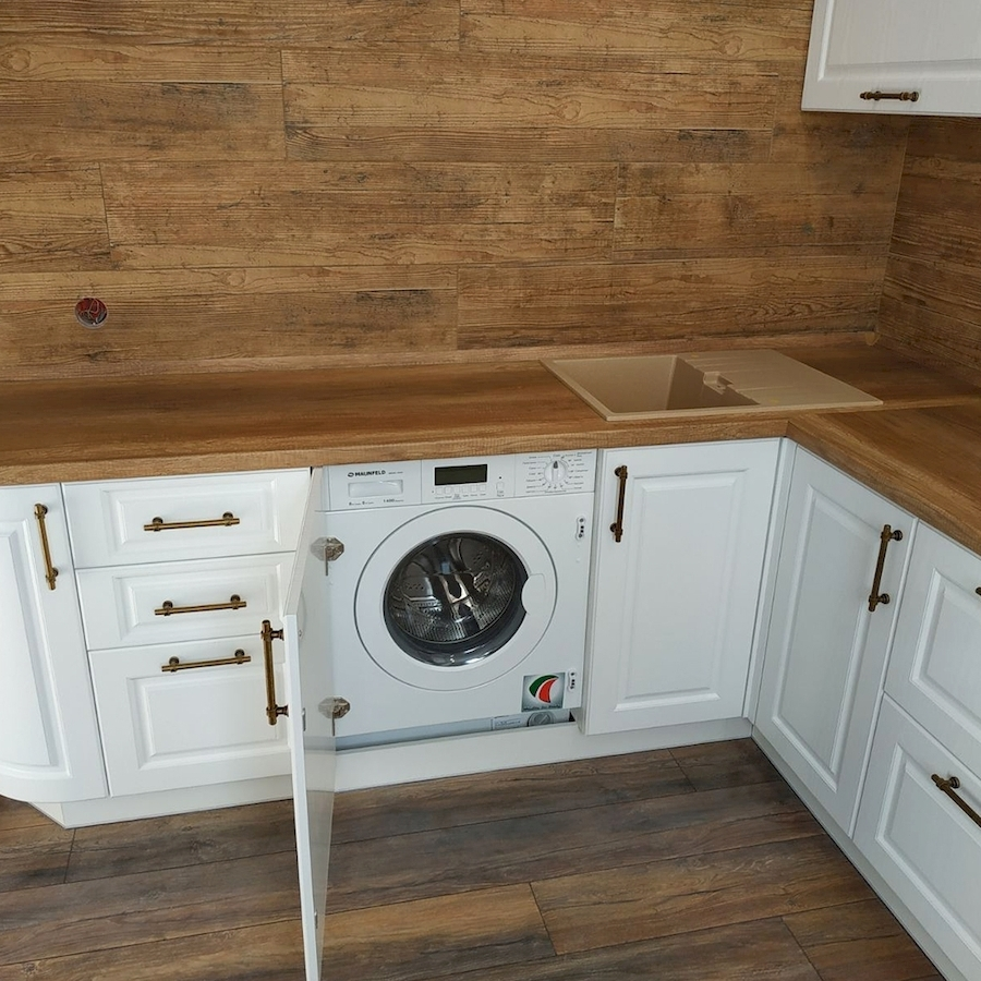 Белый кухонный гарнитур-Кухня МДФ в ПВХ «Модель 597»-фото5