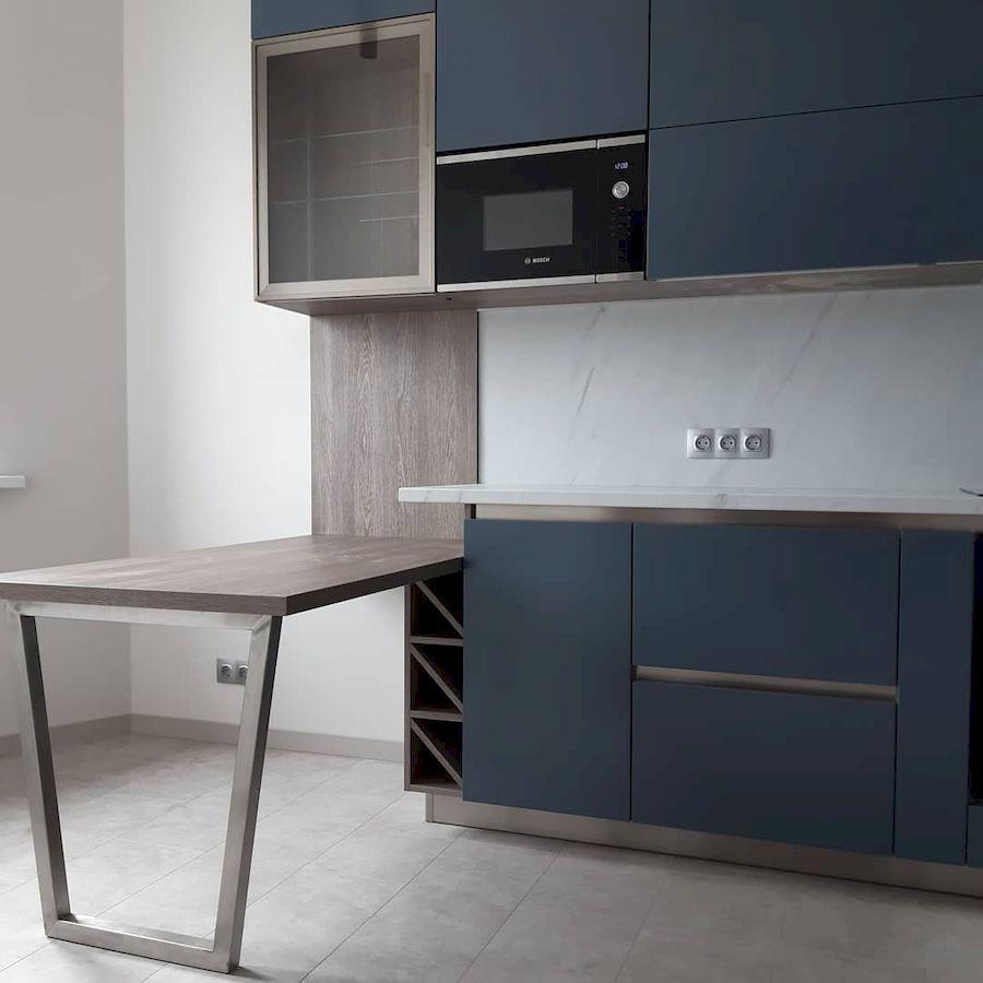 Белый кухонный гарнитур-Кухня МДФ в эмали «Модель 647»-фото2