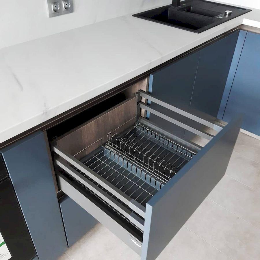 Белый кухонный гарнитур-Кухня МДФ в эмали «Модель 647»-фото6