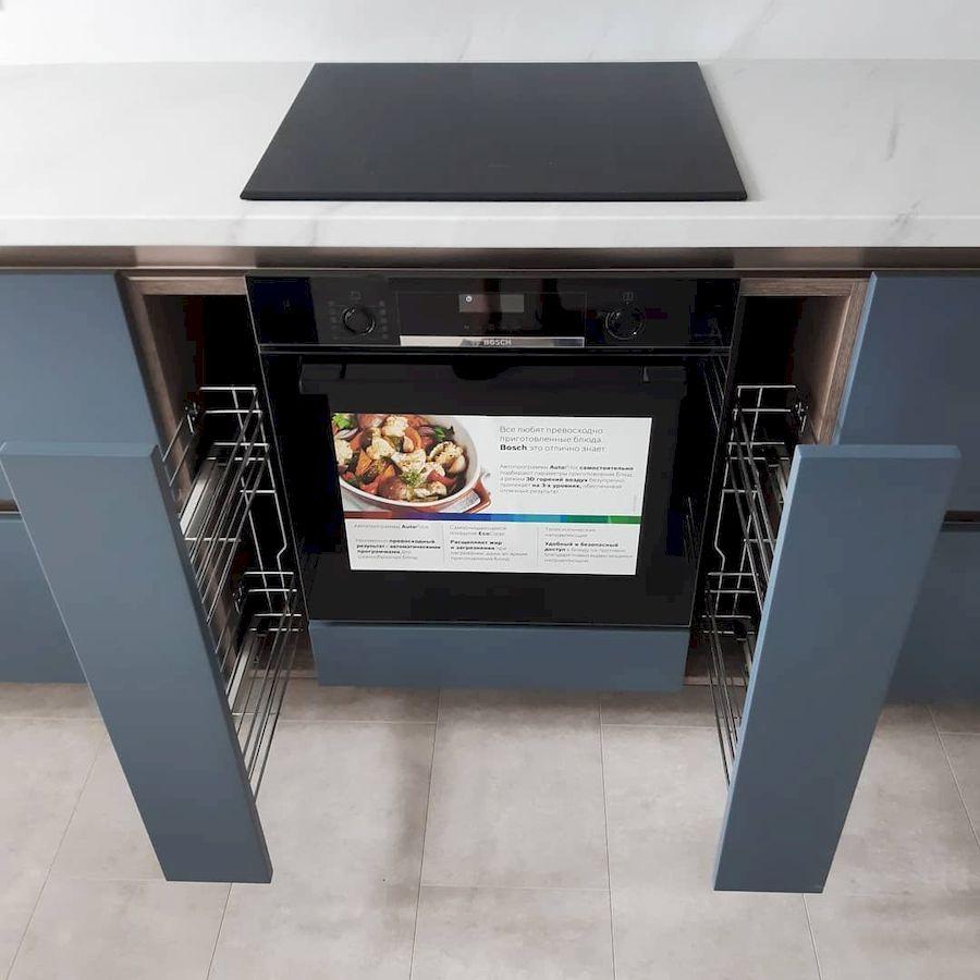 Белый кухонный гарнитур-Кухня МДФ в эмали «Модель 647»-фото7