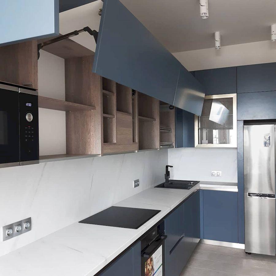 Белый кухонный гарнитур-Кухня МДФ в эмали «Модель 647»-фото3