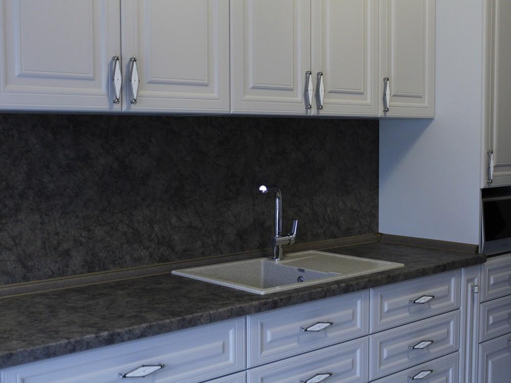 Встроенная кухня-Кухня МДФ в ПВХ «Модель 147»-фото3