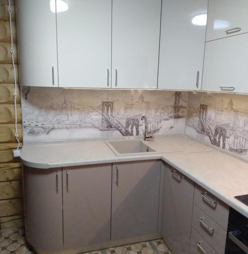 -Кухня МДФ в ПВХ «Модель 38»-фото3