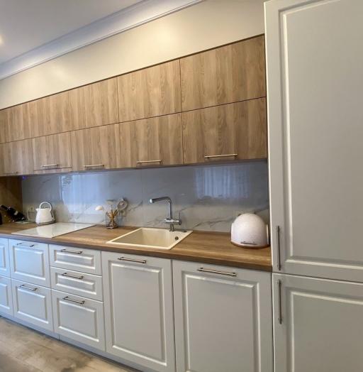 Белый кухонный гарнитур-Кухня МДФ в ПВХ «Модель 588»-фото7